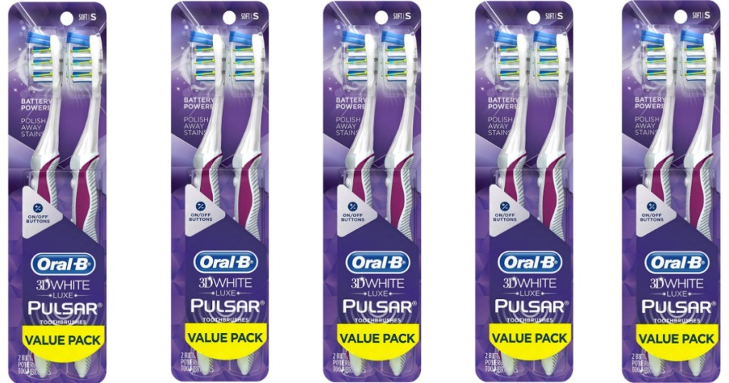 Oral-B Pulsar Toothbrush in a package of two