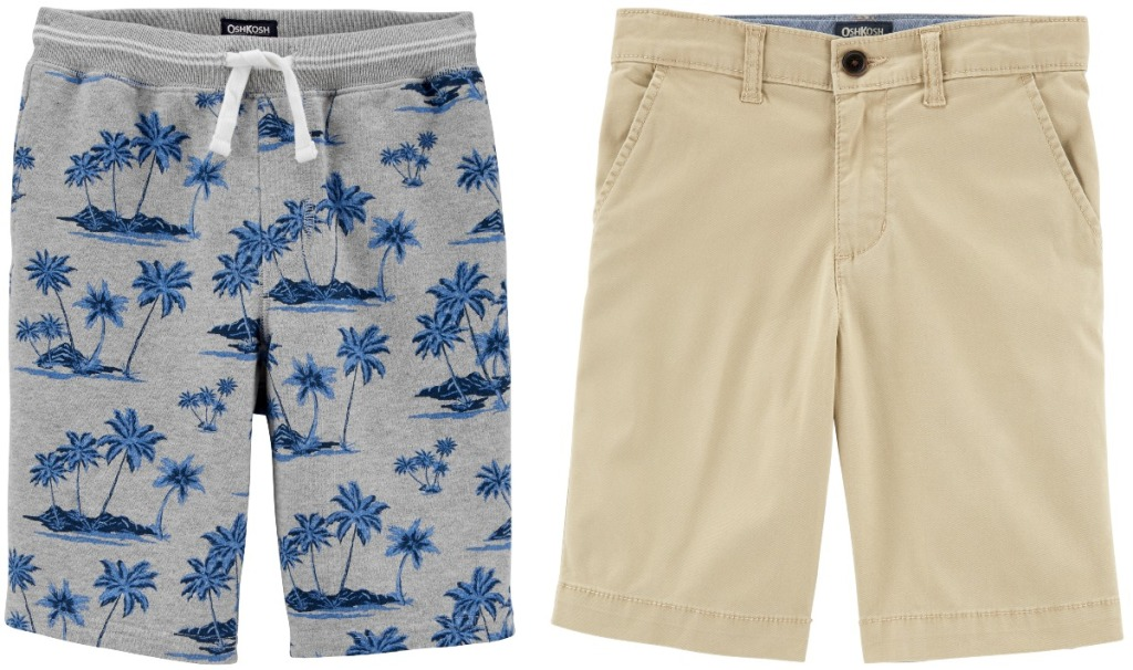 Two styles of boys shorts