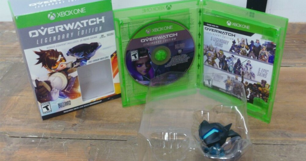picture of Overwatch Legendary Edition Xbox with toy on counter