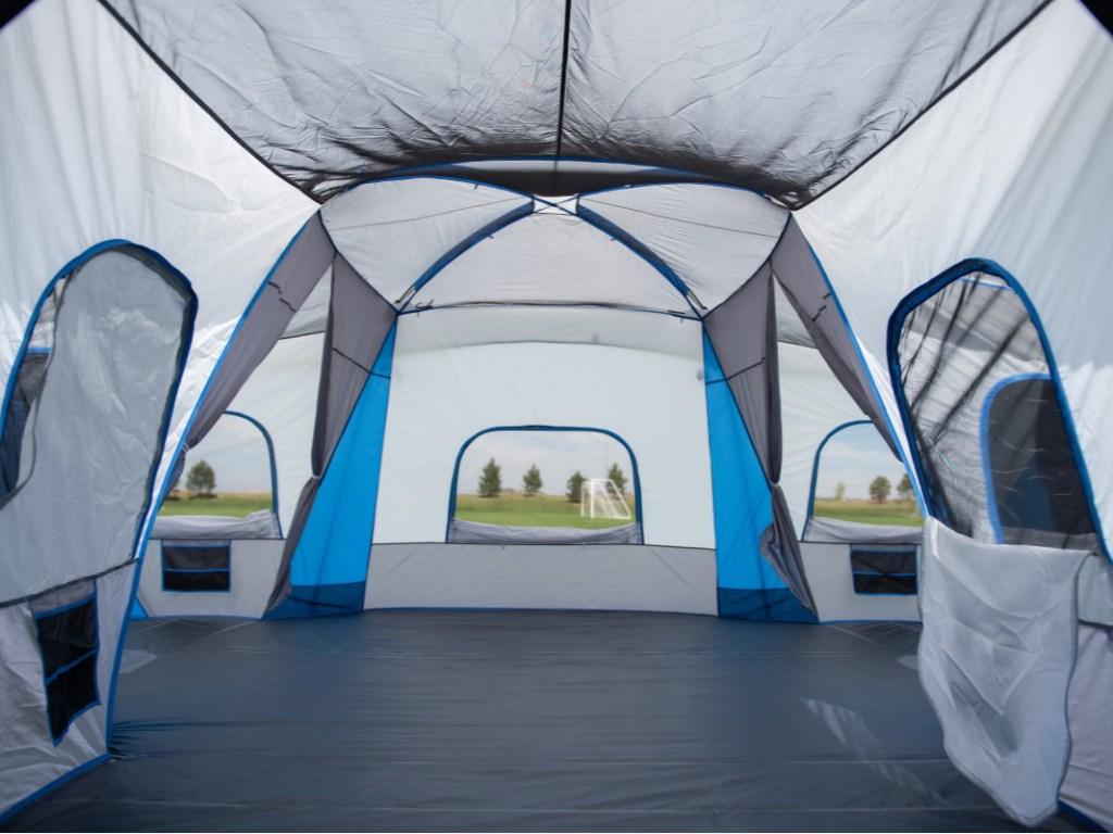 large tent interior