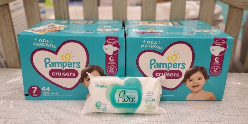 TWO Pampers Super Pack Diapers + 576 Wipes Just $37 After Target Gift Card & Rebate