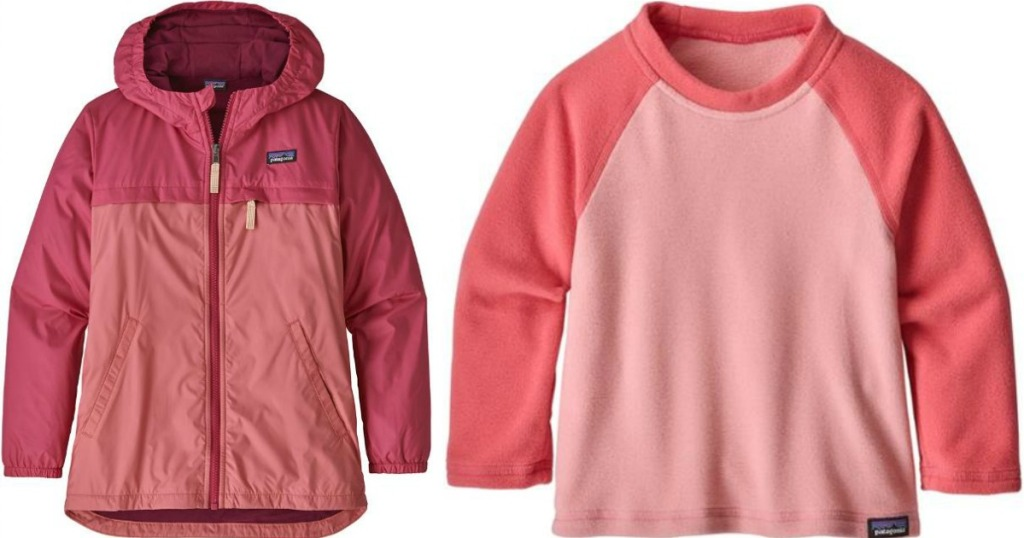 pink Patagonia jacket and shirt