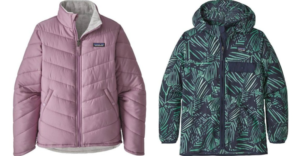 pink Patagonia Jacket and a multicolor Patagonia Jacket