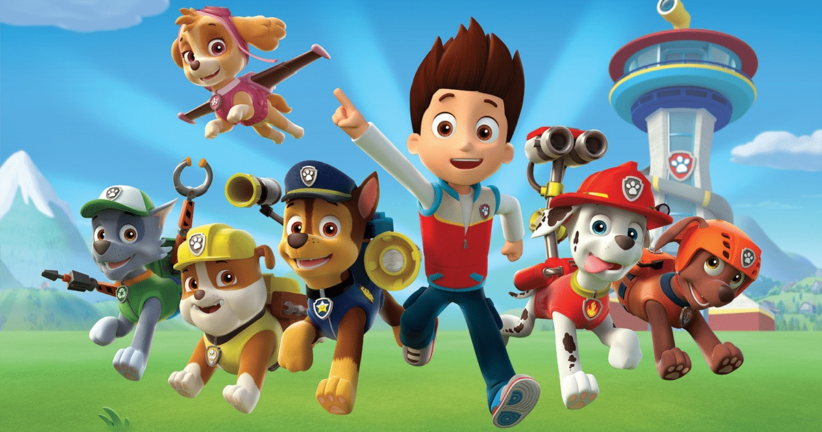 Paw Patrol - animated boy and dogs