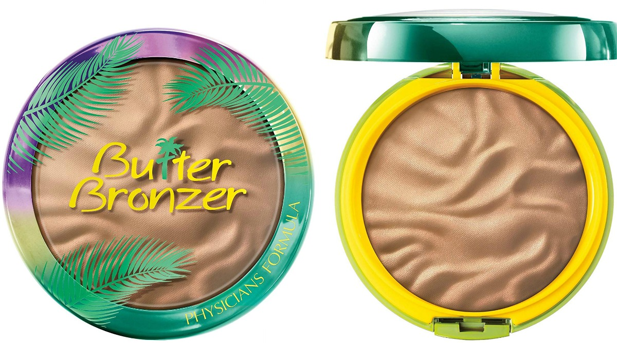 Container of bronzer - open and shut