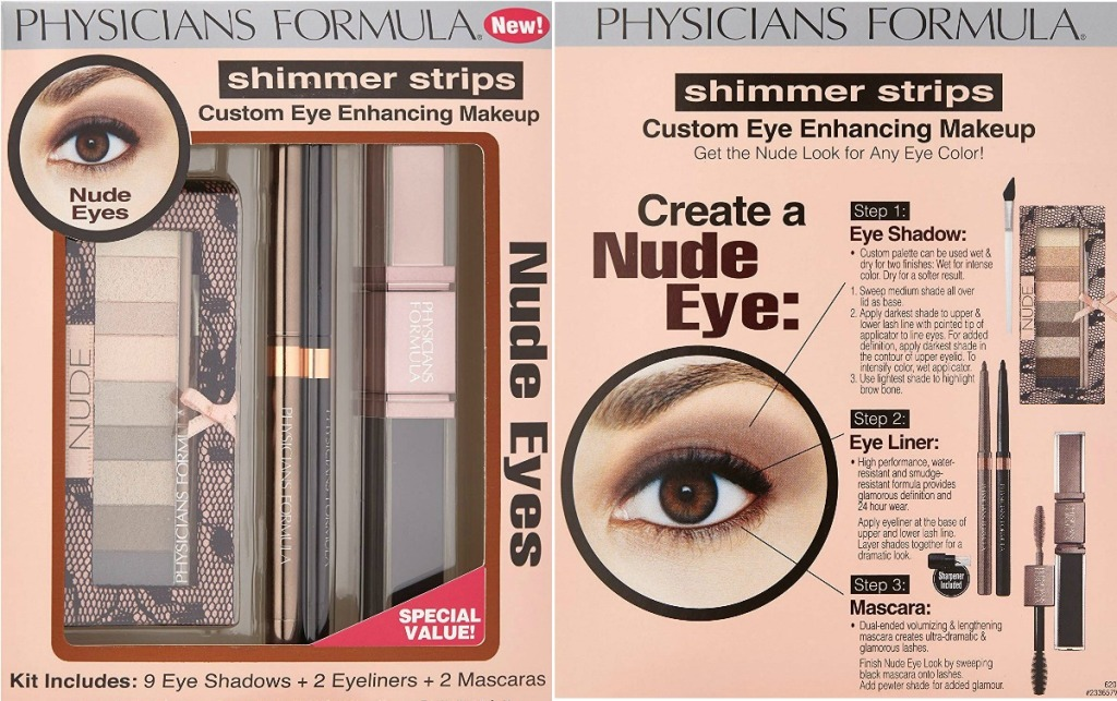 Package of eye makeup - front and back view