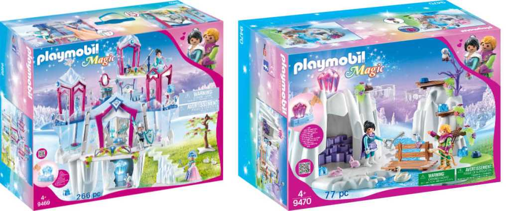 box of Playmobil Magic Crystal Palace and Crystal Diamond Hideout