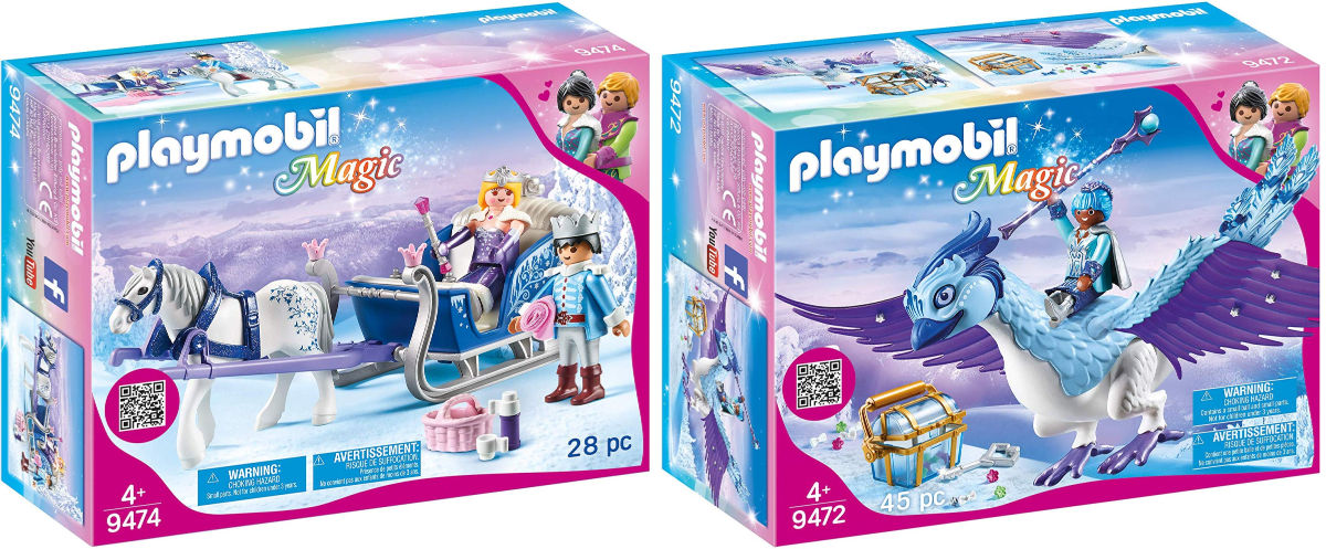 box of Playmobil Magic Phoenix and Sleigh with Royal Couple