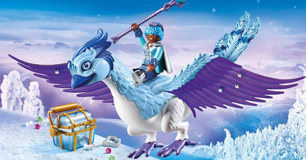 Playmobil Magic Winter Phoenix with character riding on phoenix