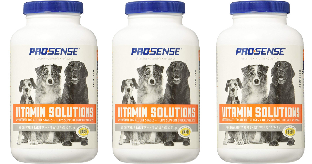 three bottles of prosense vitamin solutions