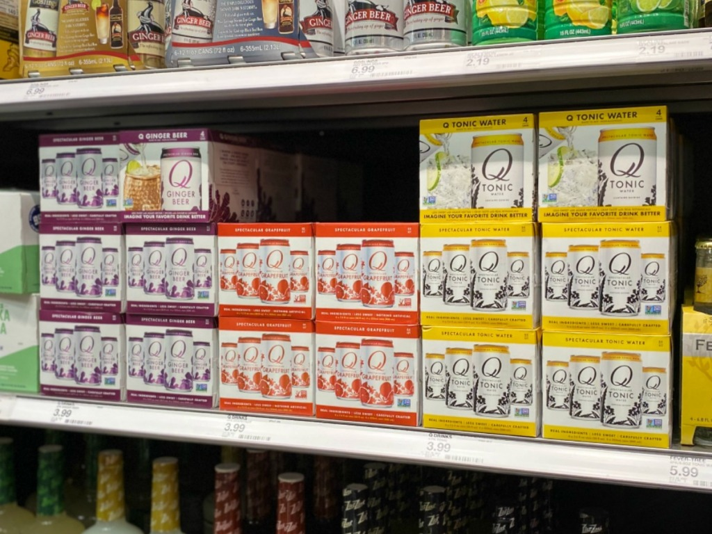 Q Drinks 4-Packs on Target Shelf