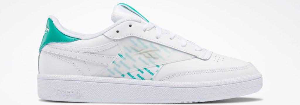 white Reebok shoe