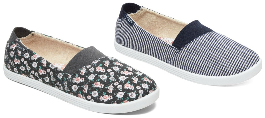 Two styles of women's slip-on shoes