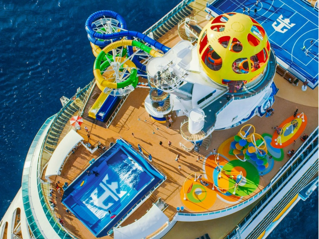 Royal Caribbean Cruise Boat with water slides