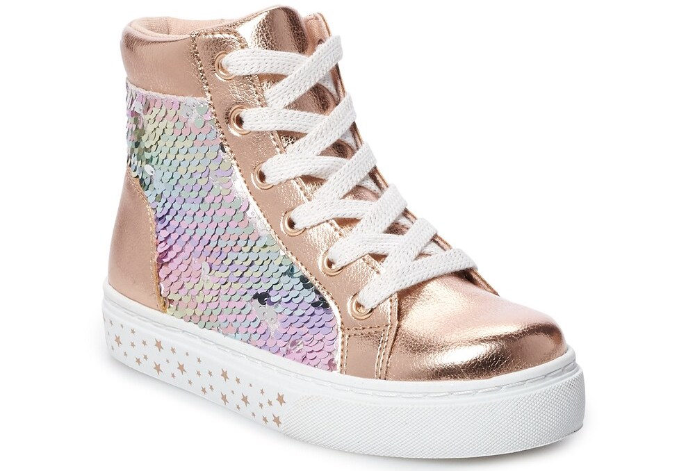 high top sneakers with sequins