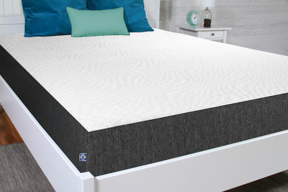 Sealy Mattress in a Box shown at an angle