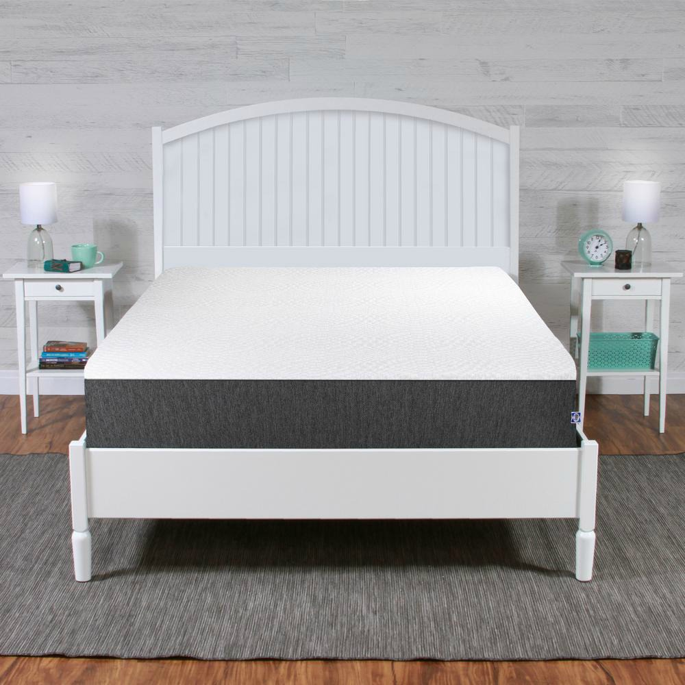 Sealy Mattress in a boxes shown in bedroom