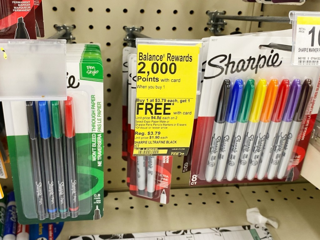 Sharpie Markers on sale at Walgreens