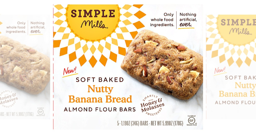 Simple Mills Soft Baked Nutty Banana Bread Bars
