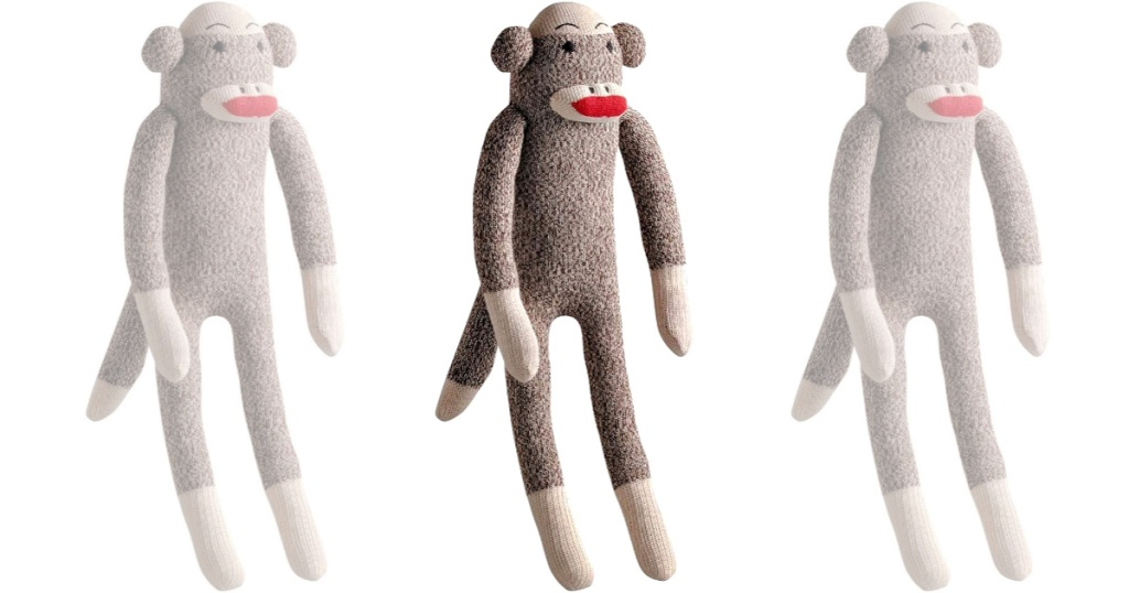 Sock Monkey Multipet Dog Toy