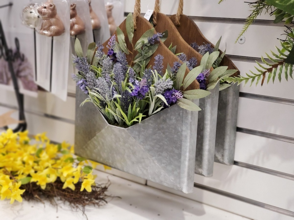 Sonoma Goods for Life Lavender Basket hanging on wall at the store