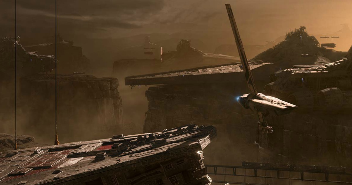 Star Wars video game game play screen shot