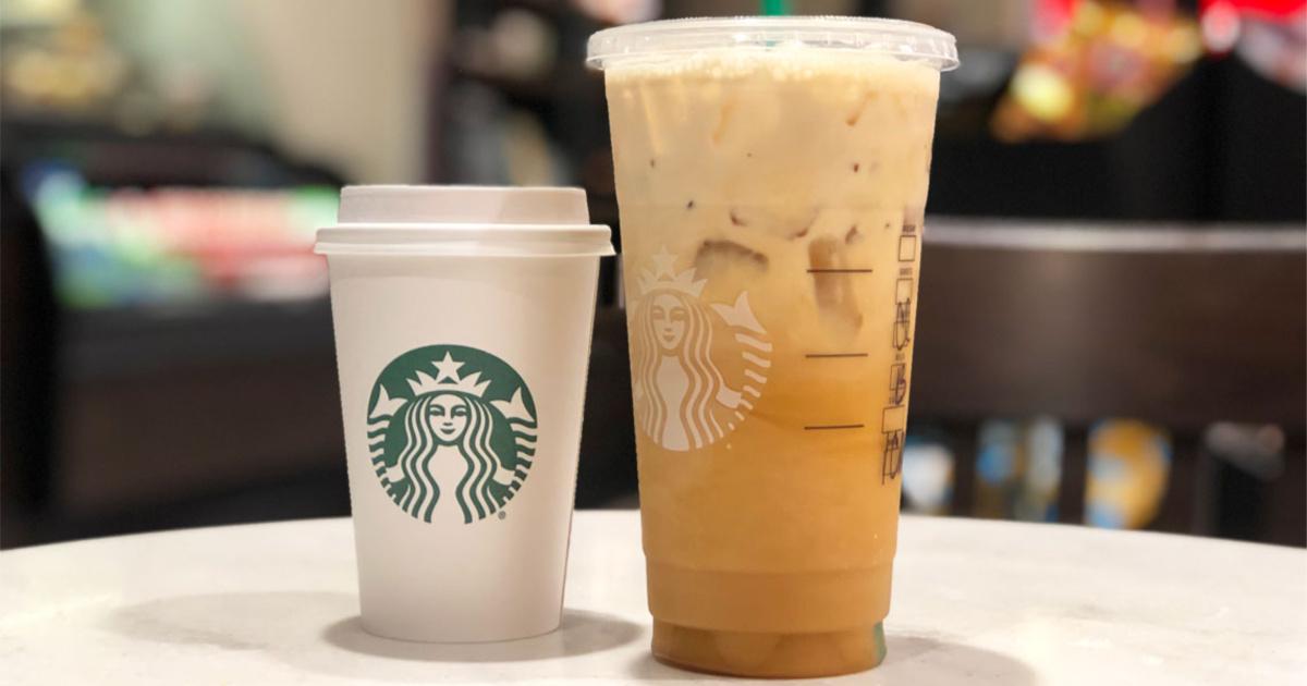 Hot coffee and iced coffee