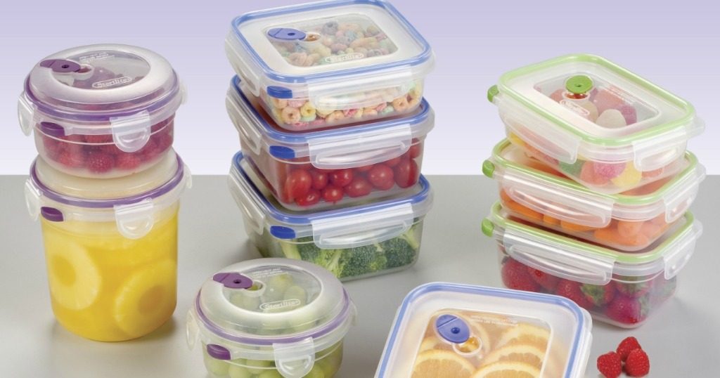 Sterilite 20-piece set with food in each container