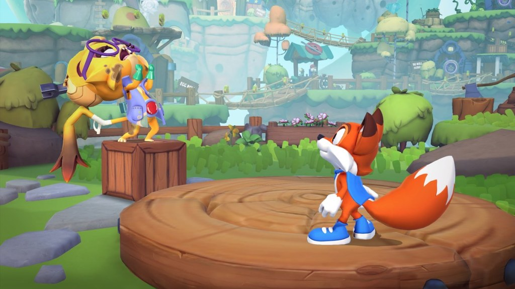 screenshot of gameplay on New Super Luckys Tale Game