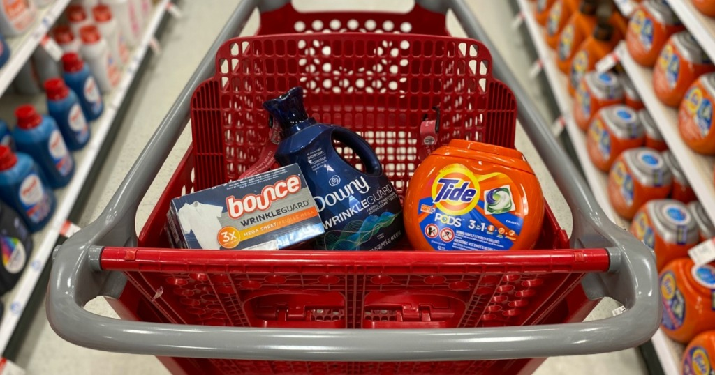 Target Basket full of Laundry products
