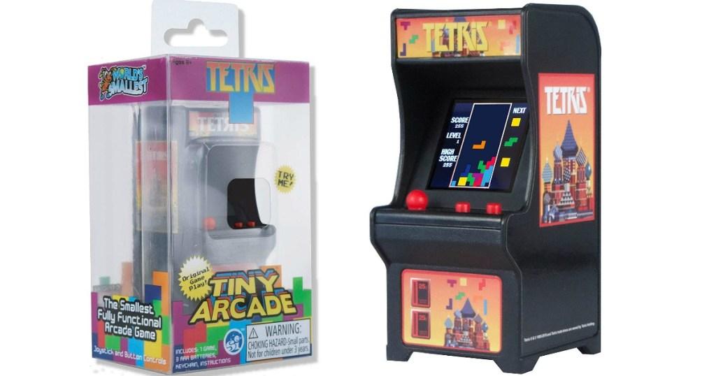 Tetris mini arcade game and box