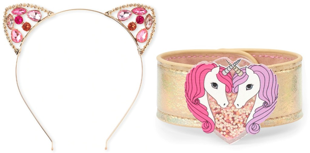 Unicorn and cat themed girls accesories