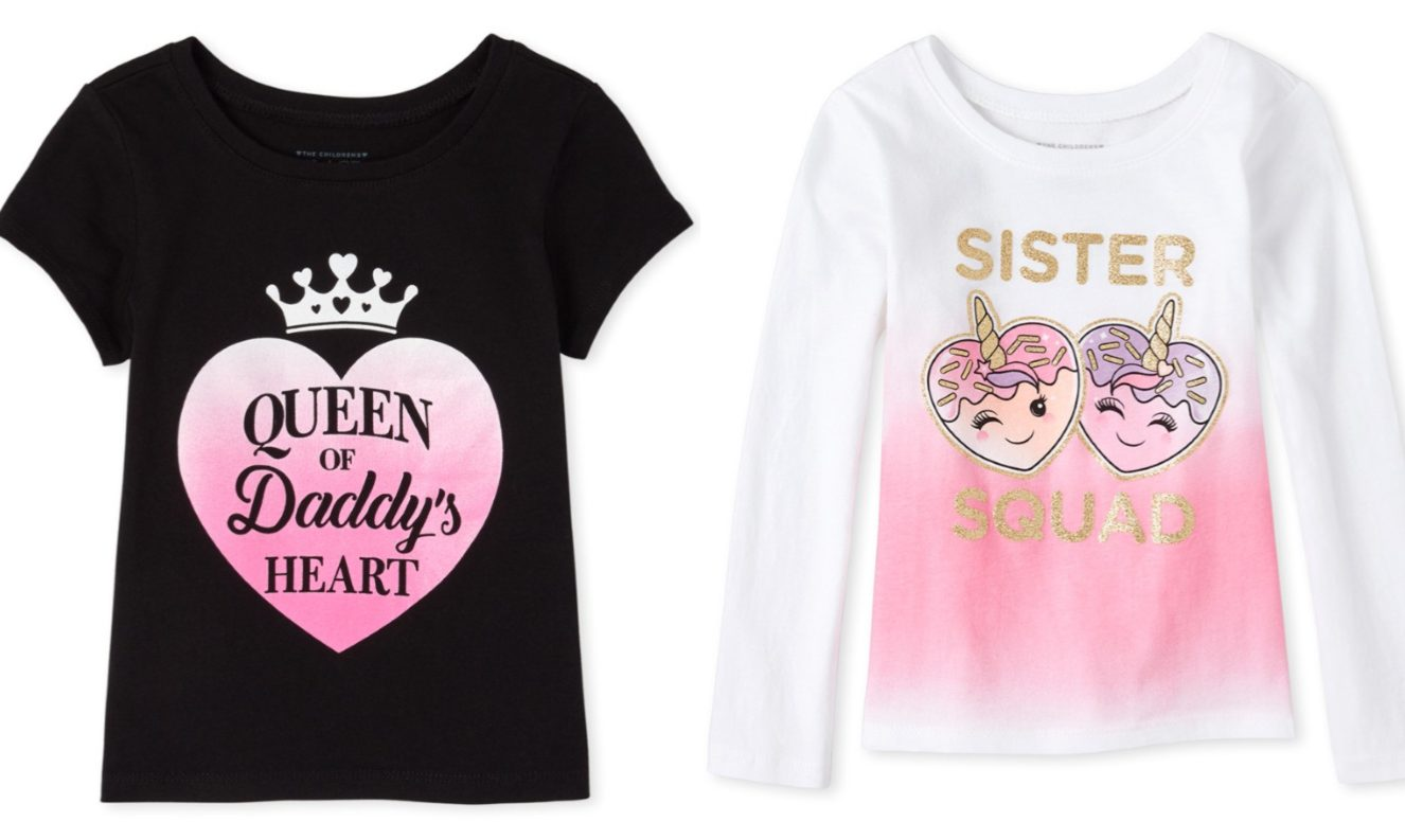 Two toddler girls tees