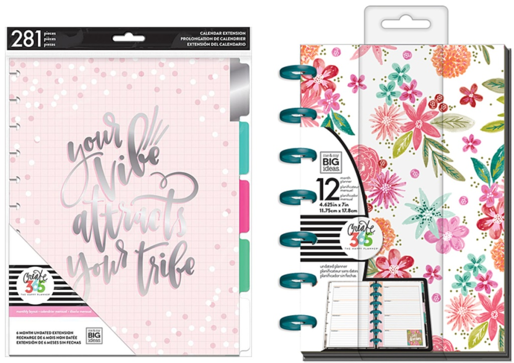 your vibe pink planner and floral planner
