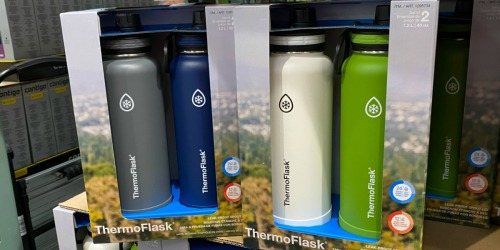 TWO Thermoflask 40oz Insulated Water Bottles Only $17.99 at Costco