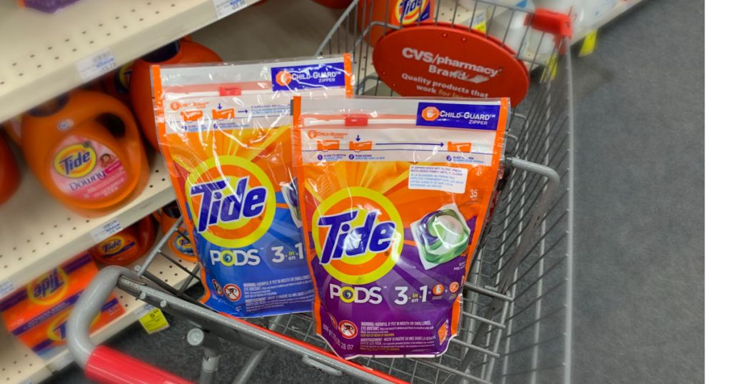 Tide pods in basket