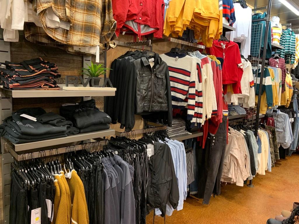 Jackets on display