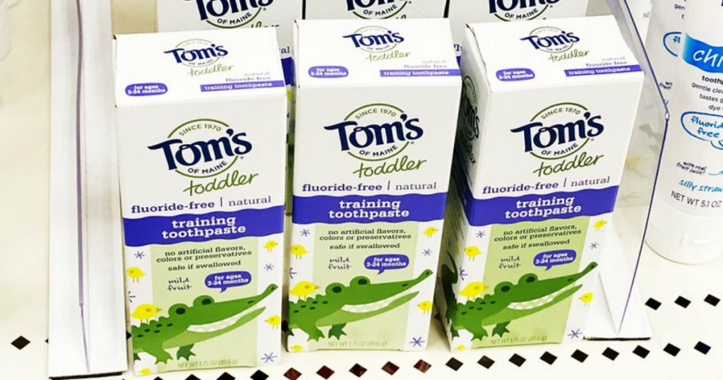 Tom's of Main toothpaste on the shelves at target