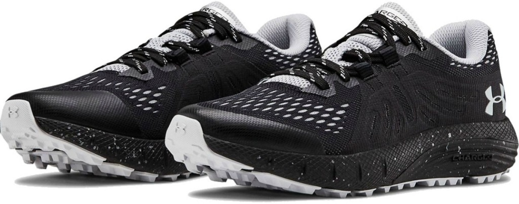 Women's Under Armour Shoe pair in black and white