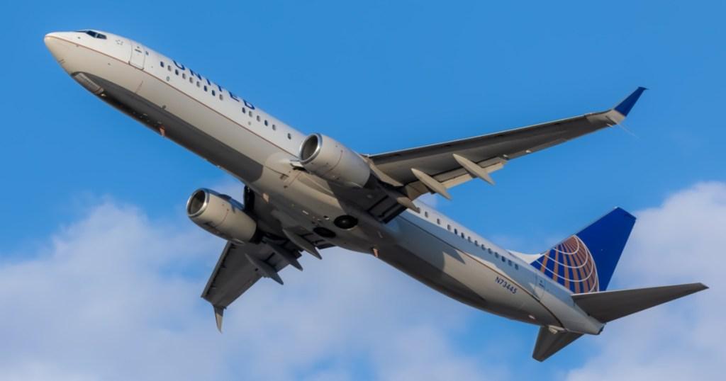 United Airplane flying in sky
