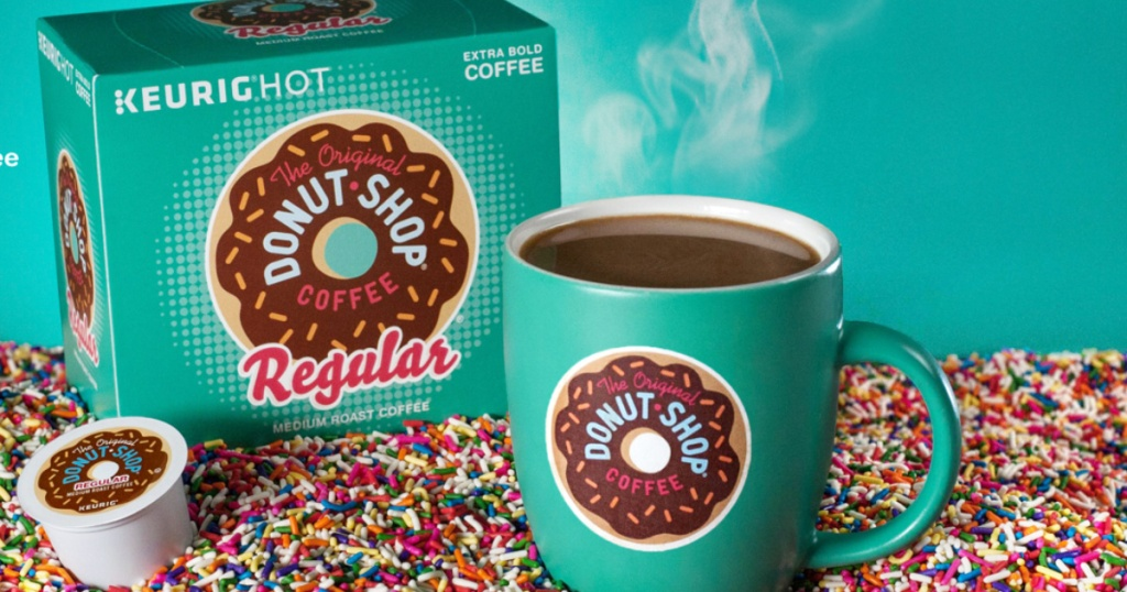 donut shop k-cups with mug in sprinkles