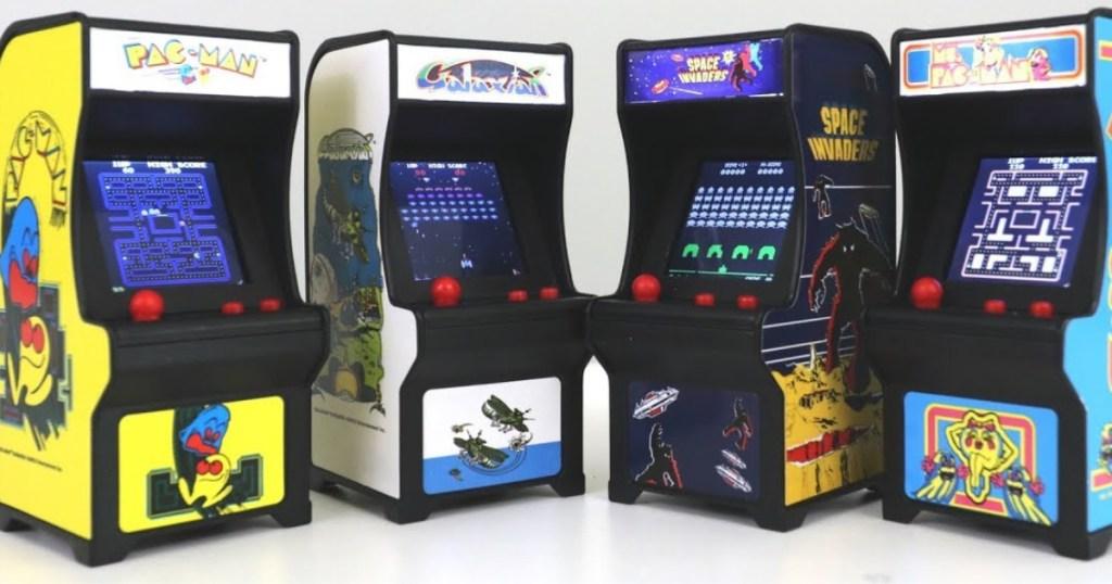 various tiny arcade games