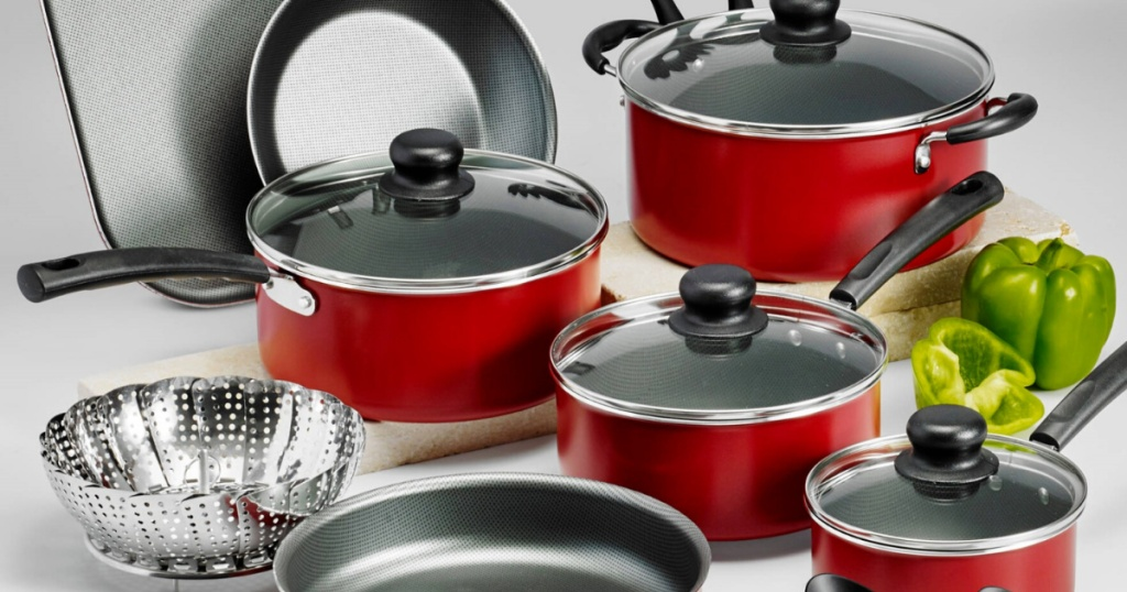 red pots and pans sets