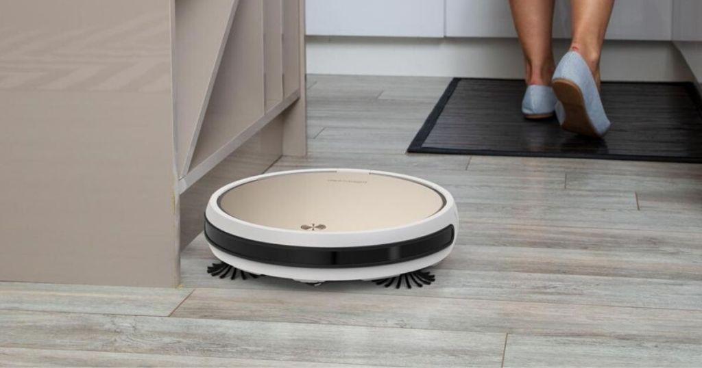 robotic vacuum on floor