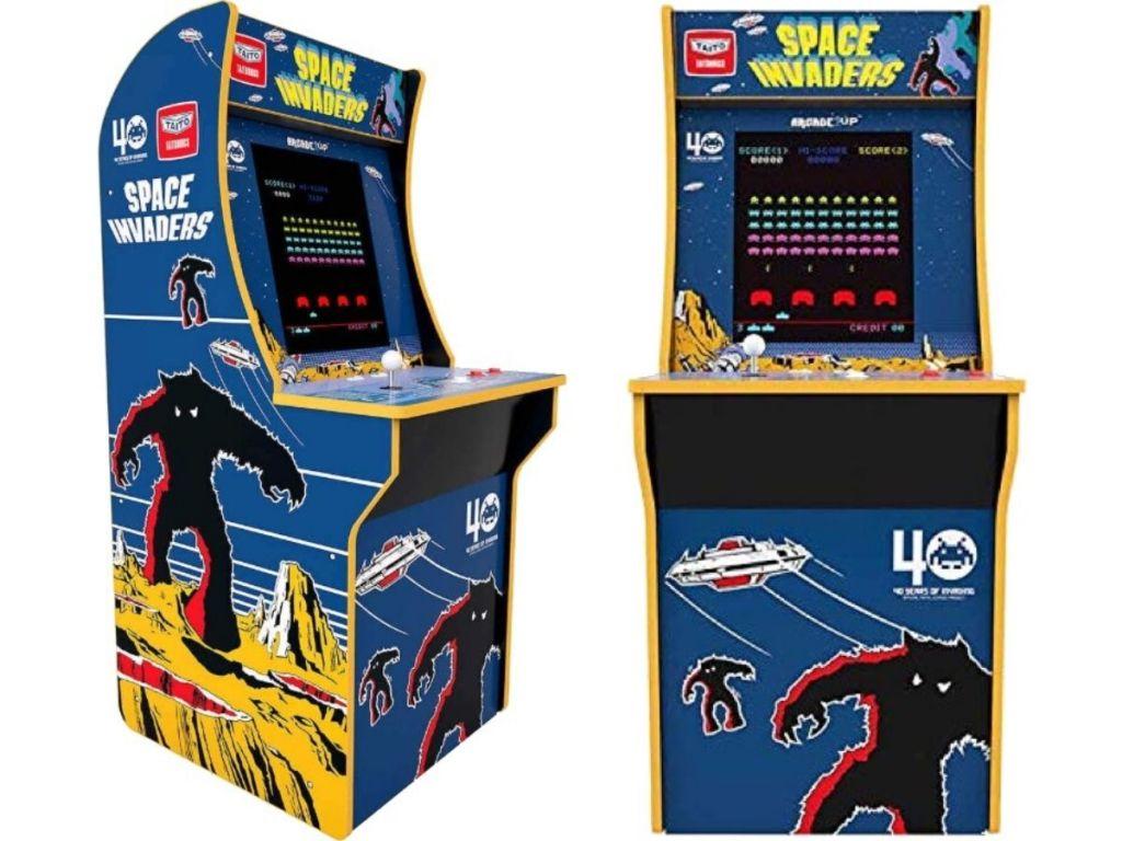 lemari permainan gaya arcade tegak