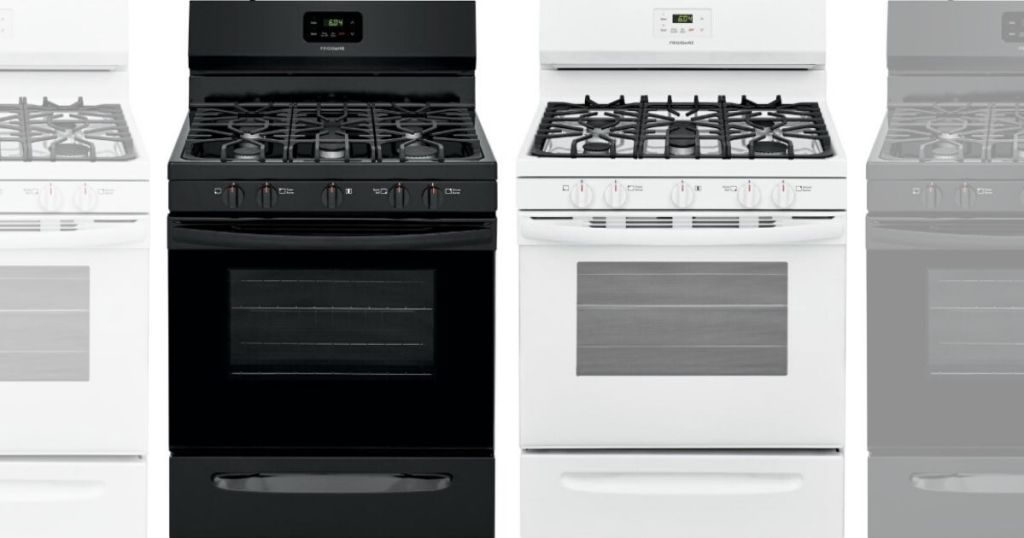 black and white models of gas top range