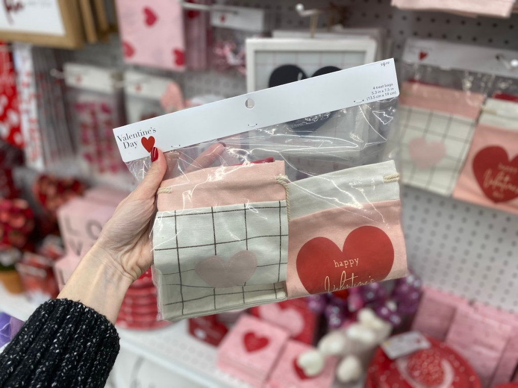 hand holding bag of Valentine's Day Treat Bags