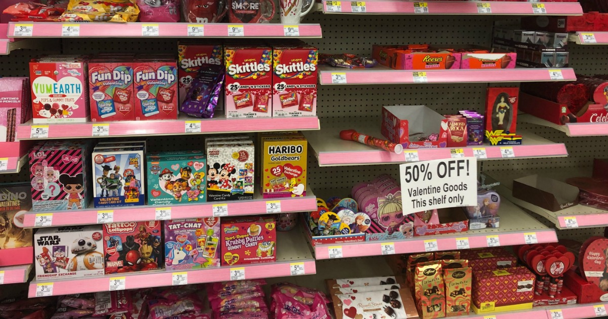 Valentine's candy on clearance at Walgreens
