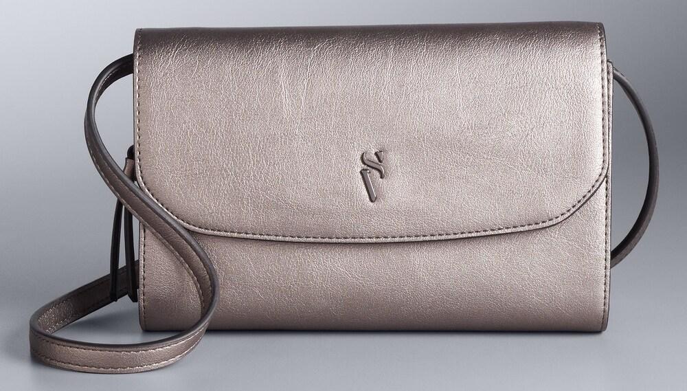 shiny purse with long strap