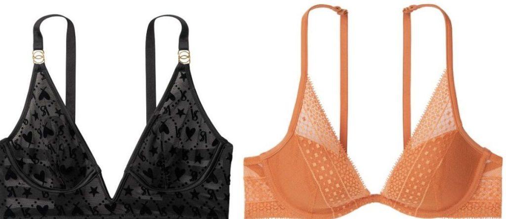 two women's bras side by side